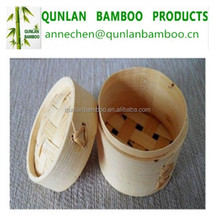 Natural bamboo steamer basket for cooking utensils