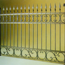 2017 Top-selling cheap house wrought iron/cast iron fence panels fittings
