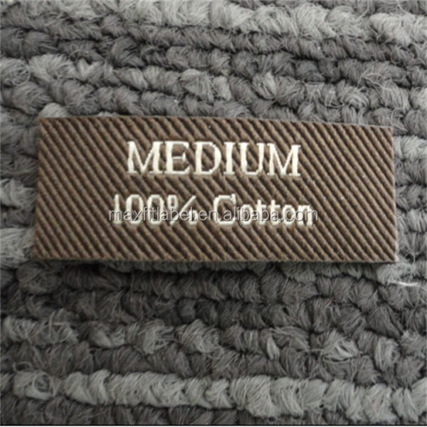 China cheap customized damask clothing woven label