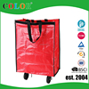 sedex 4 pillar foldable tote bag with wheels, trolley bags