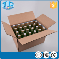 24 Bottles OEM print paper kraft wine bottle shipping boxes wholesale