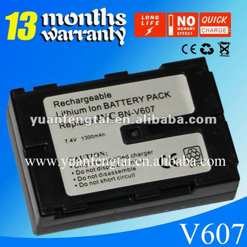 For JVC 7.4V professional camcorder battery BN-V607