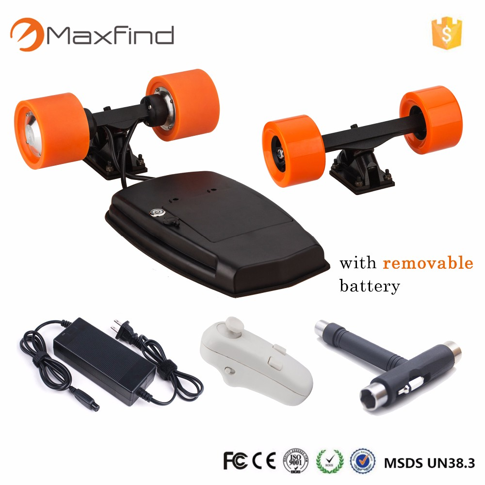 Powerful Electric skate board wheels motor kits drive- systerm for electric longboard orange color