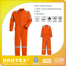 heavy duty fireproof uniforms/ Fireproof twill fabric