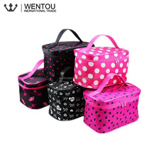 Wholesale Personalized Polka Dot Travel Cosmetic Bag