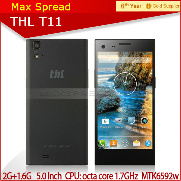 "2014 hot sell THL T11 5.0"" IPS Screen android 4.2 1.7GHz Octa Core brand smart cell phone"