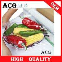 Food wrap use static cling window film for cooking