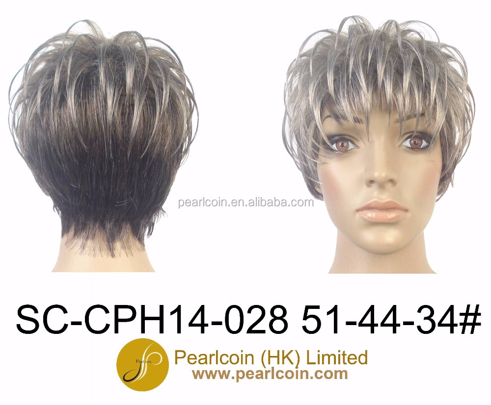 Pixie Short Fashionable Grey Hair High Temperature Fiber Wigs