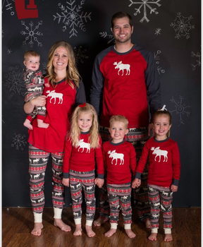 family christmas pajamas mother father baby clothes family look outfits cotton long-sleeve family set pajamas
