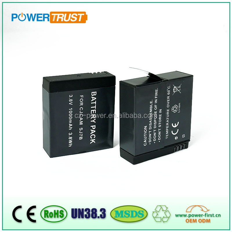 1000mAh Sport Camera Battery for SJcam Camera SJ7000 SJ7B legend