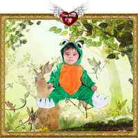 2016 New Carnival Kids Costumes Cosplay Toddler Animal Green Frog Costumes For Kids Baby
