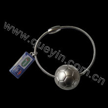 promotional football key chains with tag for 2014 world cup