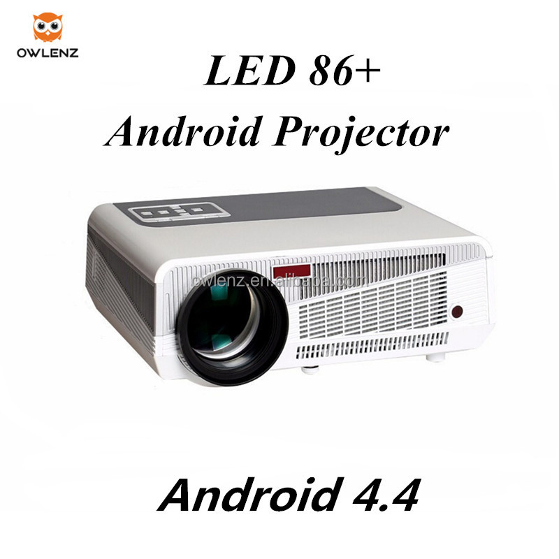 Home theater & Office Projector, Android 4.4.4 OS, support WiFi, Full HD Portable Projector LED86+