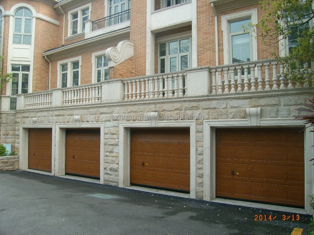 Industrial Motorized Wooden Steel Fire Rated Sectional Overhead Garage Door Shenzhen Factory