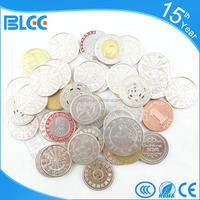 Video arcade game Different material custom engraved game token Color coins