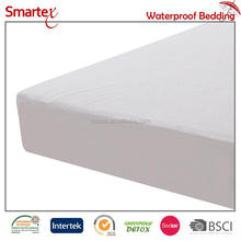 Terry Waterproof laminated PU fabrics for mattress protector with soft and breathable fabric feeling