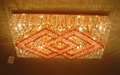 Square Crystal chandelier and ceiling fixtures light VOL