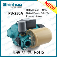 250A PB Shinhoo New Product High Efficiency Water Automatic Booster Pump Home Using