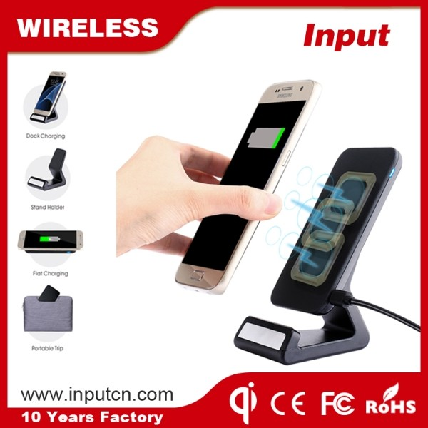 Shenzhen factory mobile power supply wireless transmitter with phone holder stand for iPhone 7 7plus