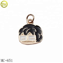 Small cute enamel metal jewelry tags custom made logo metal <strong>charms</strong> for gift