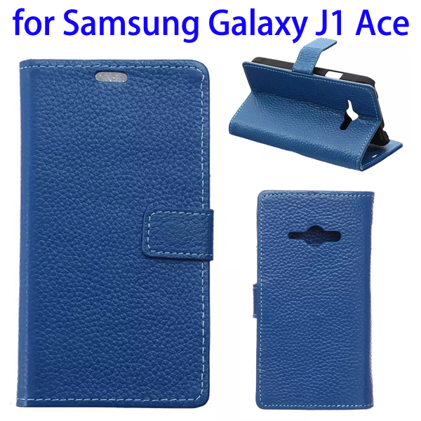 Wallet Style Genuine Leather Case for Samsung J1 ACE