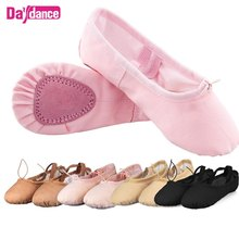 Girls Canvas Cotton Gymnastics Shoe Split Soft Sole Ballet Dancing Flats Shoes Wholesales
