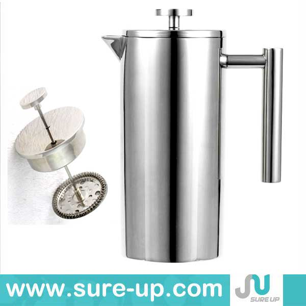 2014 New design unique french coffee press double walled coffee press(OSUN)