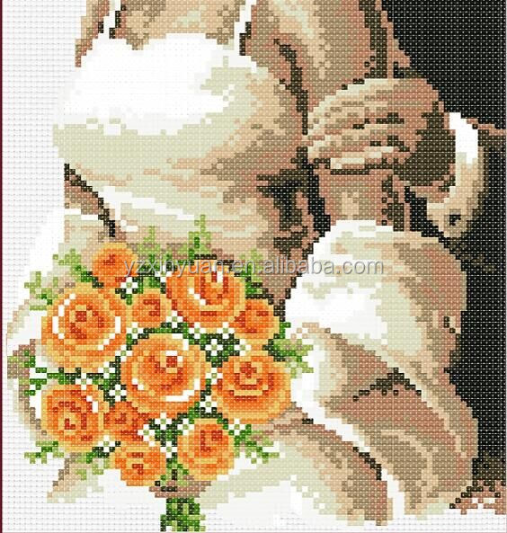 wedding party 14CT Counted Cross Stitch 14CT DMC Cross Stitch Sets DIY Cross Stitch Kits for Embroidery Home Decor Needlework