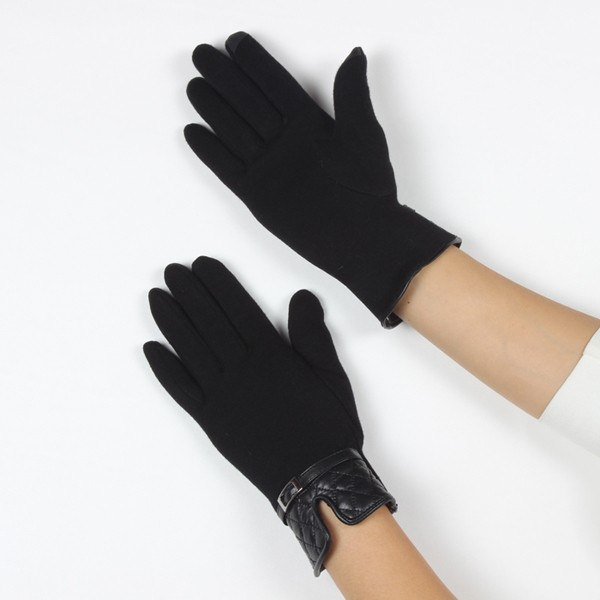 Three stitched lines trim promotional gift high fashion glove smartphone winter gloves