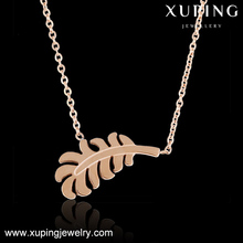 necklace-00188-steel fashion intimate jewelry foliage neckalce
