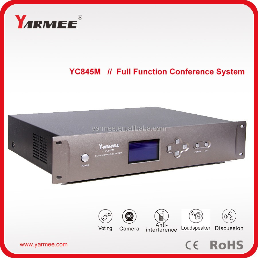 Factory supply wired digital conference system discussion camera tracking voting function together YC845