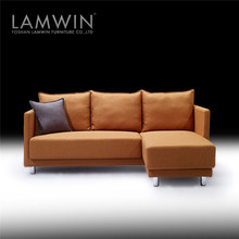 Apartment furniture mixed leather and fabric sofas turkey