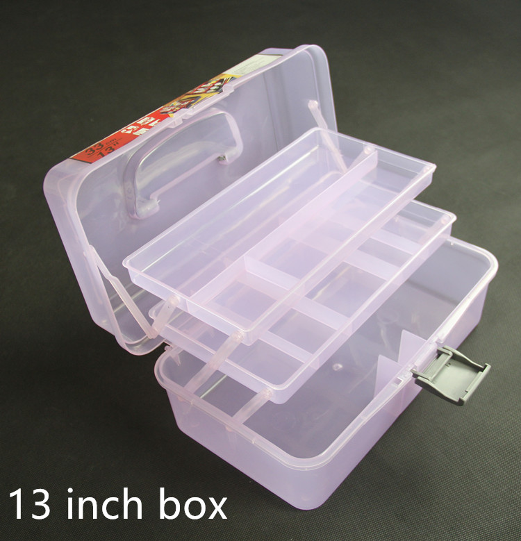 13inch art painting box Plastic Tool Box size 13Inch case Parts box Household receive a case