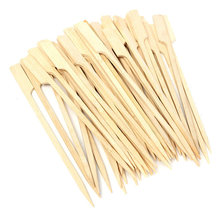 flat customized size and logo disposable bamboo sticks bamboo skewers