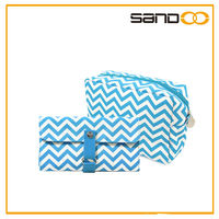 fashionable new striped design makeup bag and makeup brush bag, cosmetiqueras