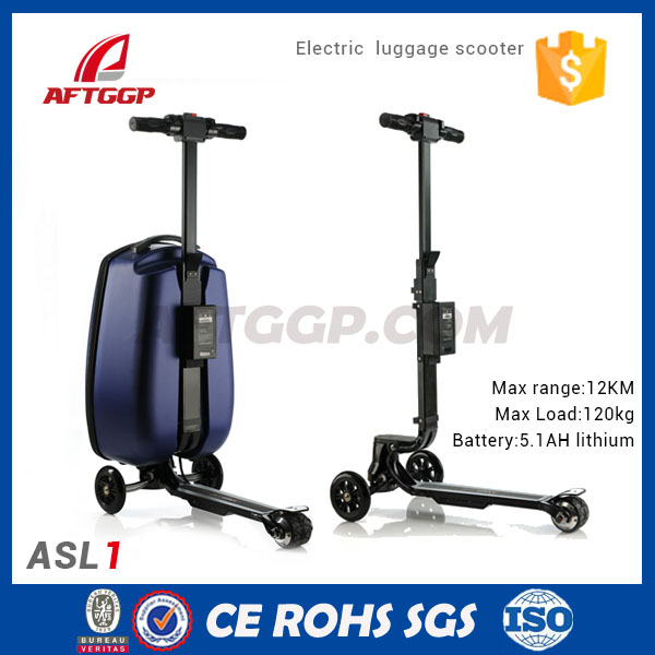 2017 New Design Three Wheels Charger time 2 hours Suitcase electric Scooter
