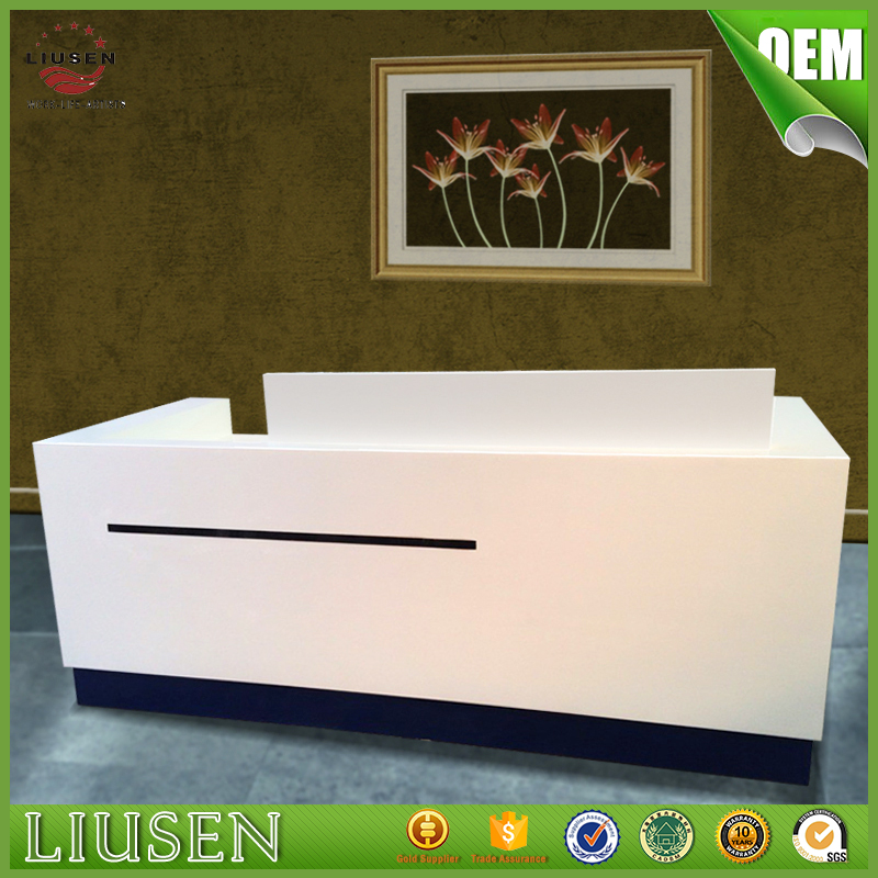 Factory wholesale price hot sale modern white acrylic portable reception desk