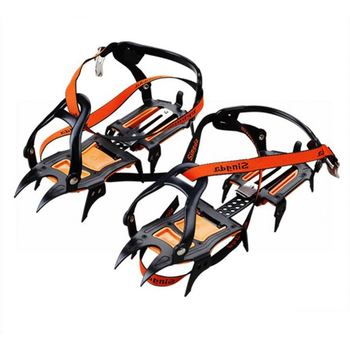 premium 10 teeth mountain climbing adjustable nonslip snow ice crampons for shoes