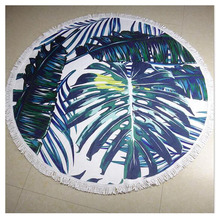ZOGIFT 2017 Custom Printed 100% Cotton Circle Beach Towel With Tassel, Round Towel Beach Tassel