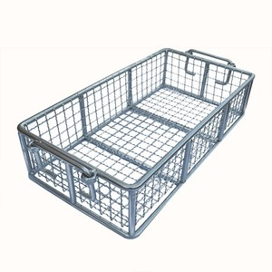 Stainless steel wire mesh metal storage basket