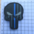 OEM Factory Skull Logo Hook And Loop Backing Soft Rubber PVC Labels