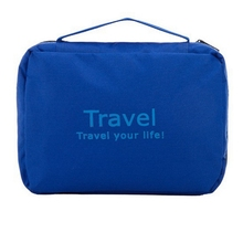Large capacity waterproof fabric toiletry hanging travel cosmetic bag men with hook