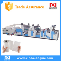 Full automatic high performance toilet tissue paper and high speed type kitchen towel rewinder making machine for Sale SPA