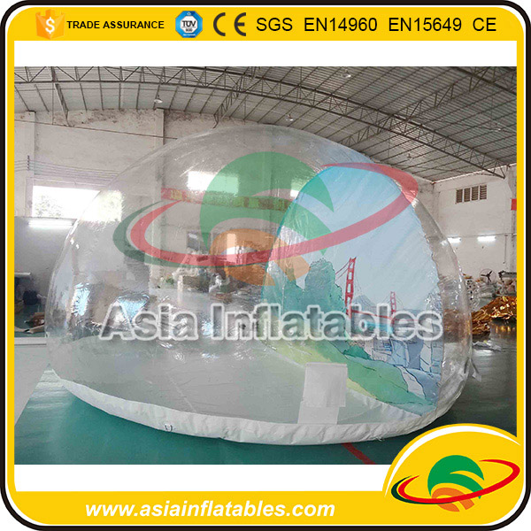 Inflatable Outdoor or Indoor Christmas Inflatable Snow Globe with Blowing Snow for Trade Show