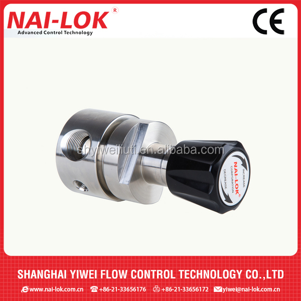 One stage diaphragm pressure regulator pressure reducer