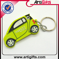 Color brilliancy metal car shape pvc keyring