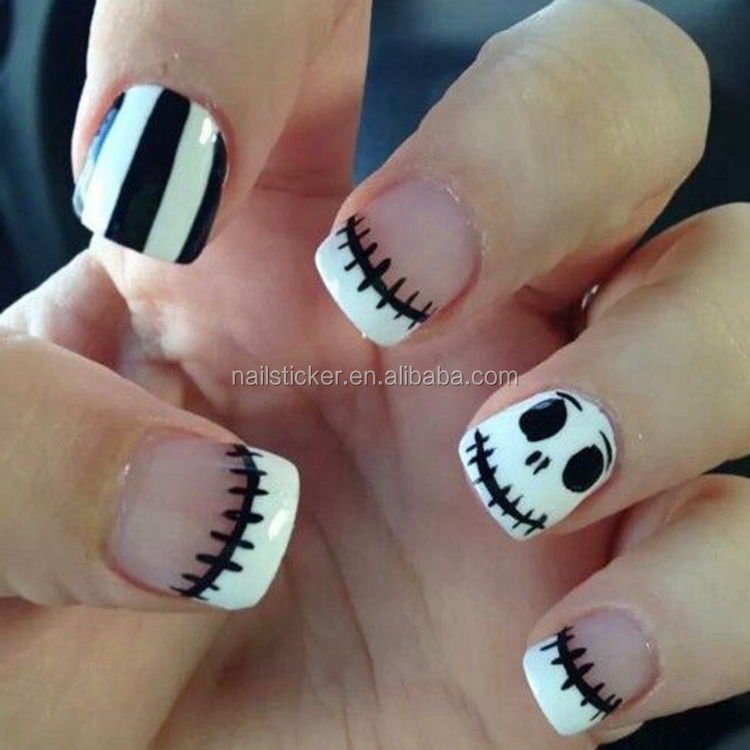 Custom Halloween nail art designs Christmas holiday toenails nail art premium decals kids cartoon fingers wraps nails suppliers