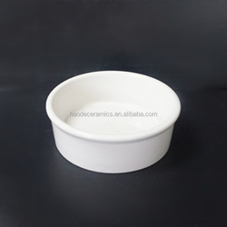 [ZIBO HAODE CERAMIC]white wholesale blank customized healthy cat dog ceramic pet bowl