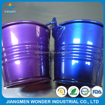 Nano Chrome Mirror Shiny Purple Blue Candy Powder Coating For Bucket