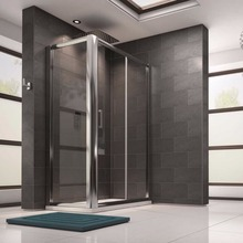 Guida brand tempered glass shower ISO BV CE bathtub room frameless glass shower door